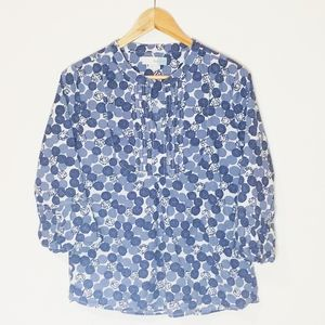 Boden Blue & White Pattern Top